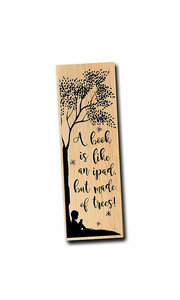 A book is like an ipad, but made of trees' Bookmark